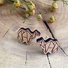 Náušnice - Ťava origami - 7975094_