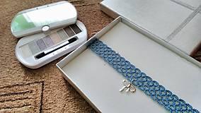 Náhrdelníky - Blue choker - 7975334_