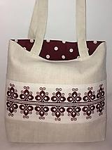 Plátenná taška s ľudovou výšivkou