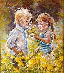 Obrazy - Prvá láska - na objednávku - 7975489_