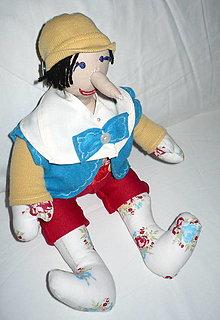 Hračky - Bábika handrová - Pinocchio - 7975586_