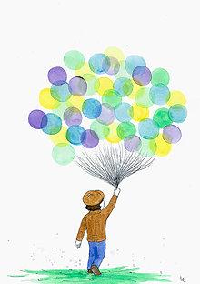 Obrázky - Boy with balloons, obrázok - 7973277_