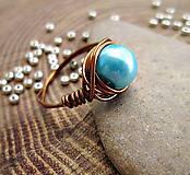 Prstene - jednoducho modrý - 7973234_