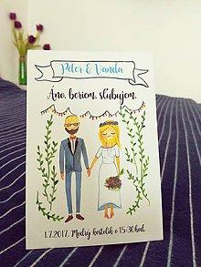 Papiernictvo - svadobné oznámenie - 7974566_