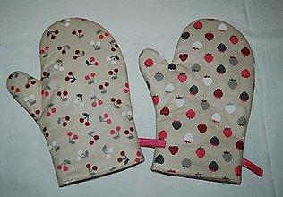 Úžitkový textil - chňapka jahoda - 7976554_