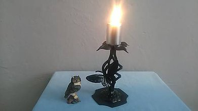 Svietidlá a sviečky - kovový svietnik motýľ - 7978242_