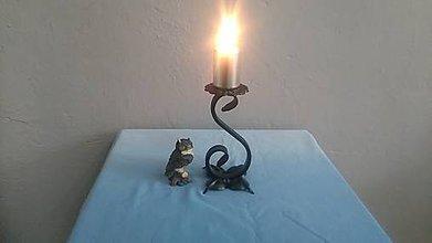Svietidlá a sviečky - kovový svietnik - 7978293_