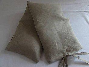 Úžitkový textil - Vankúšik na šiju alebo kríže Ľanový - 7977145_