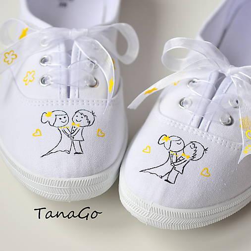 55231412ce Svadobné tenisky so žltou   TanaGo - SAShE.sk - Handmade Obuv
