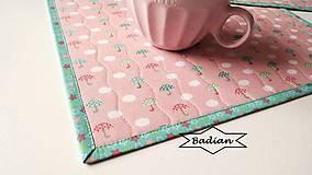 Úžitkový textil - Jarný dážď...  prestieranie 2 ks - 7980231_