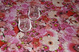 Úžitkový textil - Obrus Ružový mix digi 180x120 - 7979340_