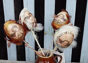 Dekorácie - Veľkonočné vajíčko (.. nie prosté, ale zlaté ...) - 7978624_