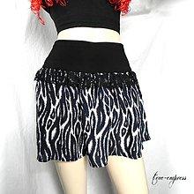Sukne - Čierno biela letná sukňa - 7977681_
