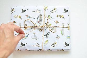 Papiernictvo - Baliaci papier Vtáčiky, dva listy A2 - 7978325_