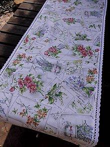 Úžitkový textil - STŘEDOVÝ BĚHOUN .. kytice květů - 7977178_