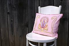 Úžitkový textil - Obliečka na vankúš s ručne vyšívaným vzorom - 7980210_
