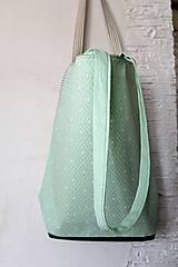 Veľké tašky - Textilná taška 2v1 Mint - 7978154_