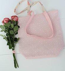 Veľké tašky - Textilná taška 2v1 Rose - 7978105_