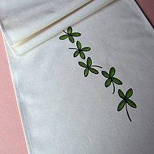 Úžitkový textil - ČTYŘLÍSTKY - běhoun 40x160 cm - 7979718_