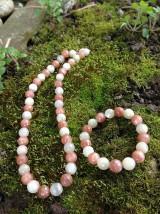 Sady šperkov - Mesačný kameň dvojfarebný - sada šperkov v striebre - 7980176_