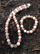 Sady šperkov - Mesačný kameň dvojfarebný - sada šperkov v striebre - 7980185_