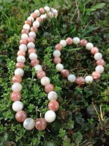 Sady šperkov - Mesačný kameň dvojfarebný - sada šperkov v striebre - 7980160_