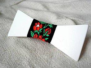 Doplnky - Stuhový folklórny motýlik STMO14 - 7978125_