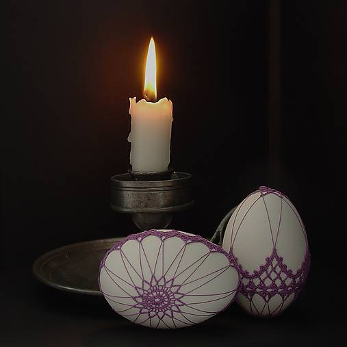 Dekorácie - kraslice - V tichu noci - 7979523_