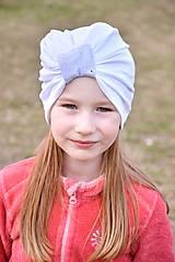 Čiapky - Turban čiapka biela - 7979570_