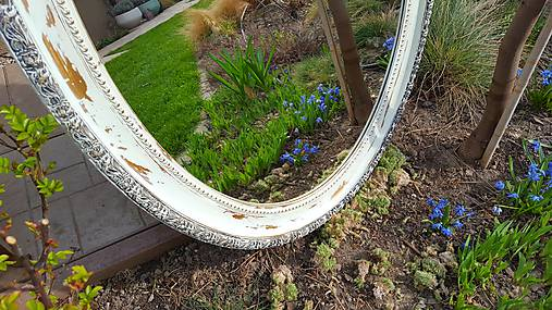 Zrkadlá - Oválne biele zrkadlo - 7979135_