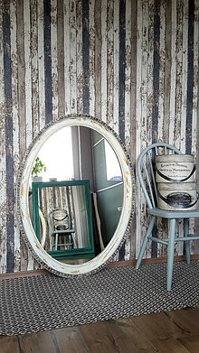 Zrkadlá - Oválne biele zrkadlo - 7979162_