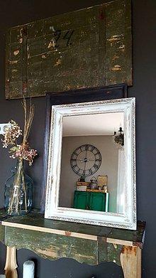Zrkadlá - Biele zrkadlo s ornamentom - 7979234_