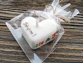 Darčeky pre svadobčanov - Srdiečka folklór/ďakujeme/ zabalené - 7977695_