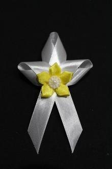 Pierka - Svadobné pierko - žltý kvet - 7983299_