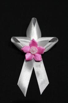 Pierka - Svadobné pierko - ružový kvet - 7983326_