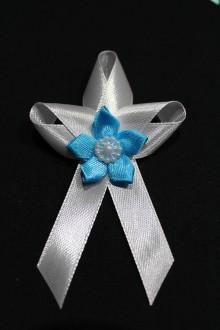 Pierka - Svadobné pierko - modrý kvet - 7983395_