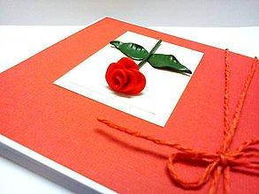 Papiernictvo - Pohľadnica ... Ruža medzi kvetmi - 7982904_