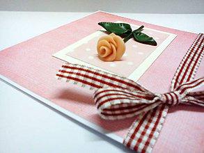 Papiernictvo - Pohľadnica ... Ruža medzi bodkami - 7982924_
