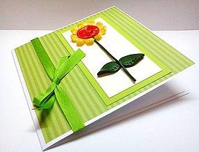 Papiernictvo - Pohľadnica ... zakvitla žlto - 7983574_