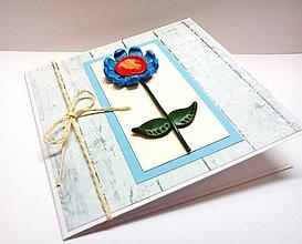 Papiernictvo - Pohľadnica ... zakvitla modro - 7983593_