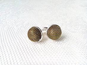 Šperky - Svadobné manžetové gombíky (zlaté) - 7982699_