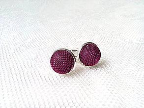 Šperky - Svadobné manžetové gombíky (fialové) - 7982803_