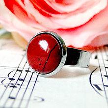 Prstene - Elegant Red Jasper Stainless Steel Ring / Elegantný prsteň s červeným jaspisom z chirurgickej ocele - 7983615_