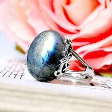 Prstene - Labradorite & Ornaments Silver Ag 925 / Strieborný prsteň s labradoritom - 7983772_