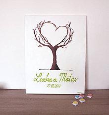 Obrazy - Svadobný strom srdce (50x65) - 7981437_