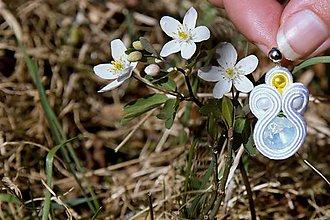 Náušnice - flower colors - veternica 2...soutache - 7980807_