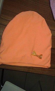 Detské čiapky - Čiapočka oranžová neonová - 7984104_