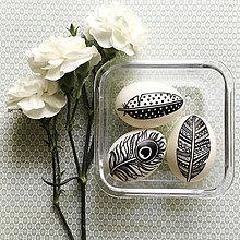 Dekorácie - kačacie kraslice pierka, 3 ks - 7981921_