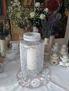 Svietidlá a sviečky - recy svietnik JEMNÁ PAVUČINKA - 7981907_
