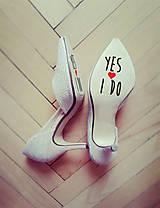 Iné doplnky - Nálepky na svadobné topánky _Pomóóóc - 7980421_